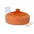 Oranžový hobby leštiaci kotúč na závit - stredný, ...